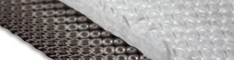 Hitzeblech Edelstahlfolie mit Kalottenprägung & Isolierung