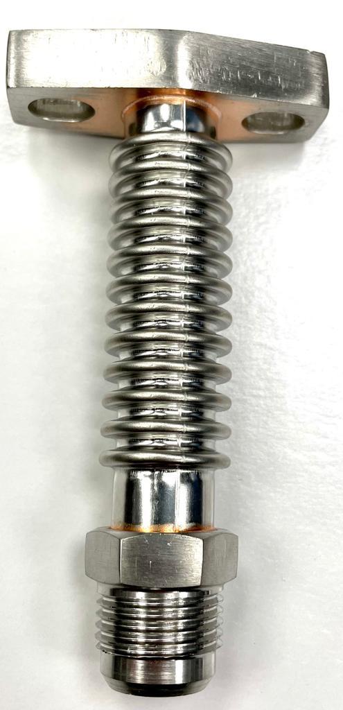 Öl Rücklauf Flansch T3 / T4 - Rohr flexibel kurz