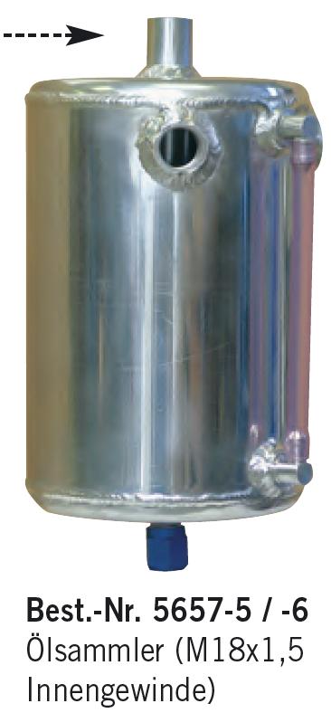Aluminium-Ölsammelbehälter, Rund, M18x1,5 Innengewinde
