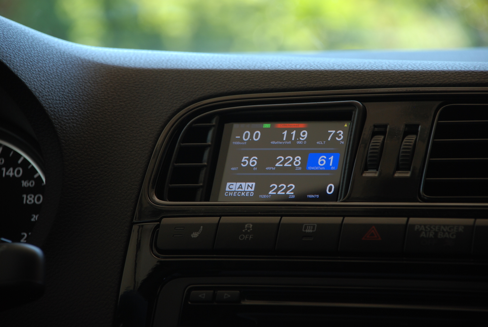 "MFD32 - 3.2"" Display VW Polo 6C mit VAG OBD II Adapter"