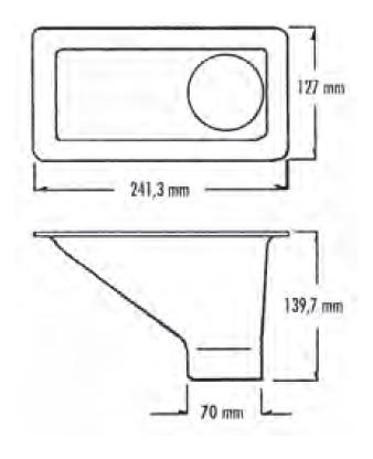 Lufteinlassführung Air Duct schwarz, Außen Ø 70 mm