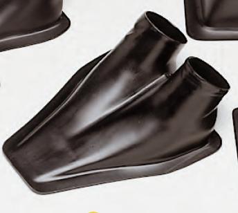 Lufteinlassführung Doppel Air Duct schwarz, Außen Ø 2x 70 mm