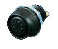 2-poliger Drucktaster mit Schraubgewinde wasserdicht zur Außenmontage