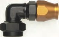 Dash mit metrischem Gewinde für Teflonschlauch 90° Blockwinkel