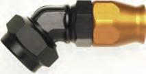 Dash mit metrischem Gewinde für Teflonschlauch 45° Blockwinkel