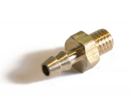 Ladedruck Steckanschluss mit M5 Gewinde für 3mm Unterdruckschläuche (aus Messing)