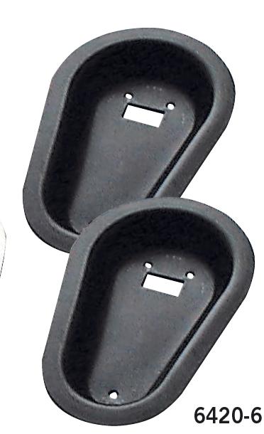 Alu-Einlassschalen, schwarz eloxiert (Lieferung paarweise)