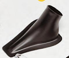 Lufteinlassführung Air Duct schwarz, Außen Ø 63 mm
